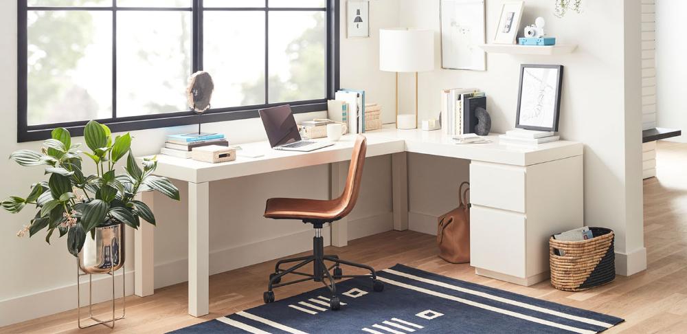 Parsons L Shaped Desk File Cabinet Set In 2020 L Shaped Desk Filing Cabinet Desk In Living Room