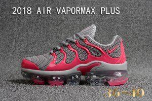 d0295ffff0bb8 Womens Nike Air Vapormax Plus KPU TN + 2018 Cool Grey Pink Running Shoes