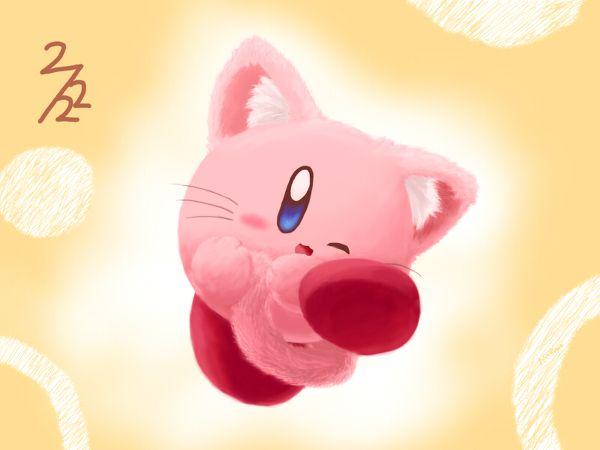 Kirby Neko by Kirby-PetalSoom.deviantart.com on @DeviantArt