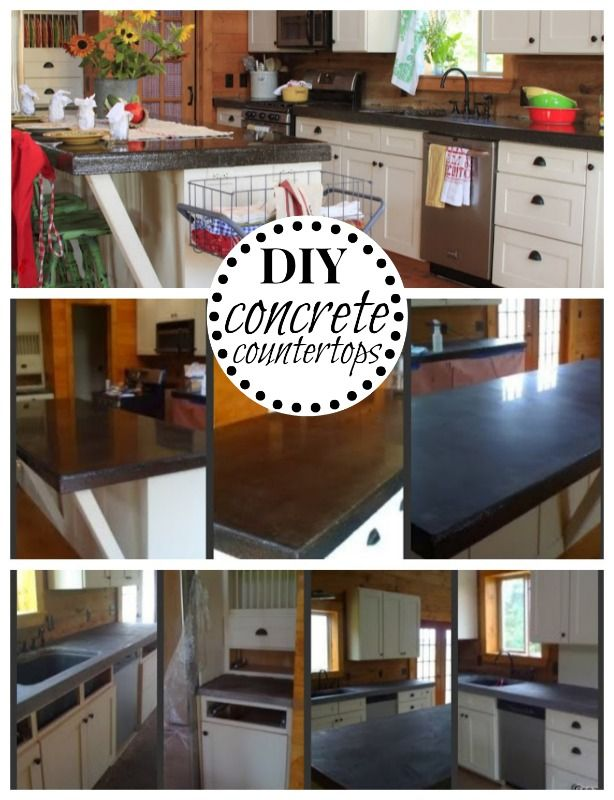 concrete counter tops on a budget diy concrete countertop and concrete. Black Bedroom Furniture Sets. Home Design Ideas
