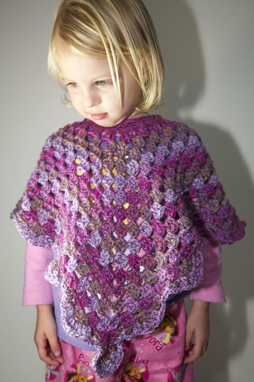 Toddler Crochet Poncho and Matching Hat Craftsmumship