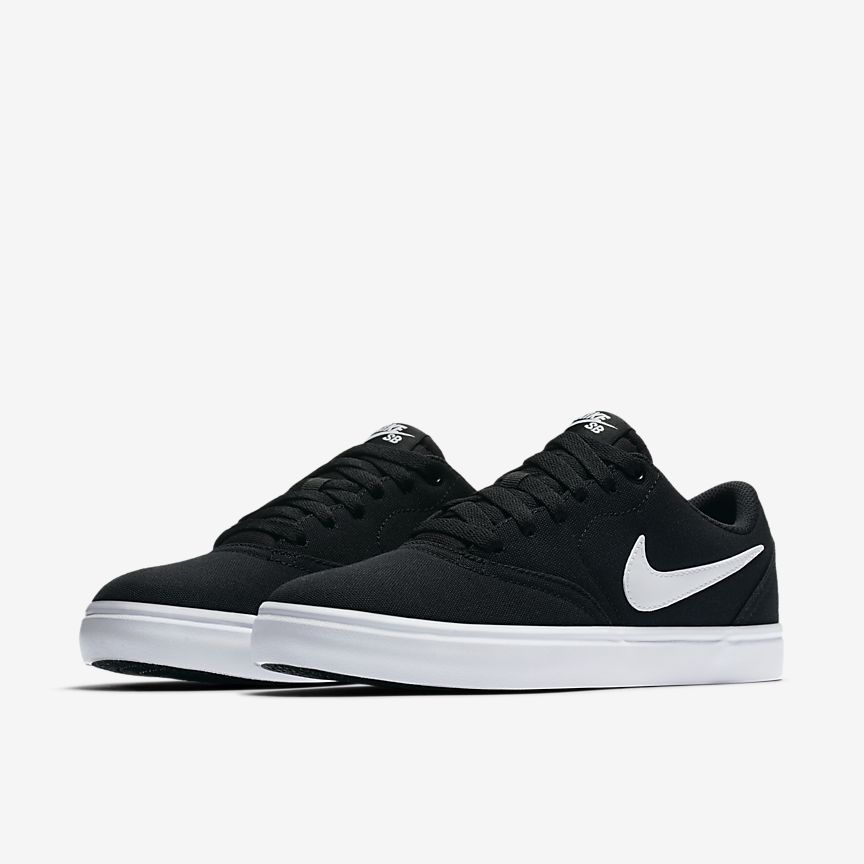 Nike Sb Check Solarsoft Canvas Women S Skateboarding Shoe Nike Com Black Nike Shoes Women Black Nike Shoes Nike Sneakers Women