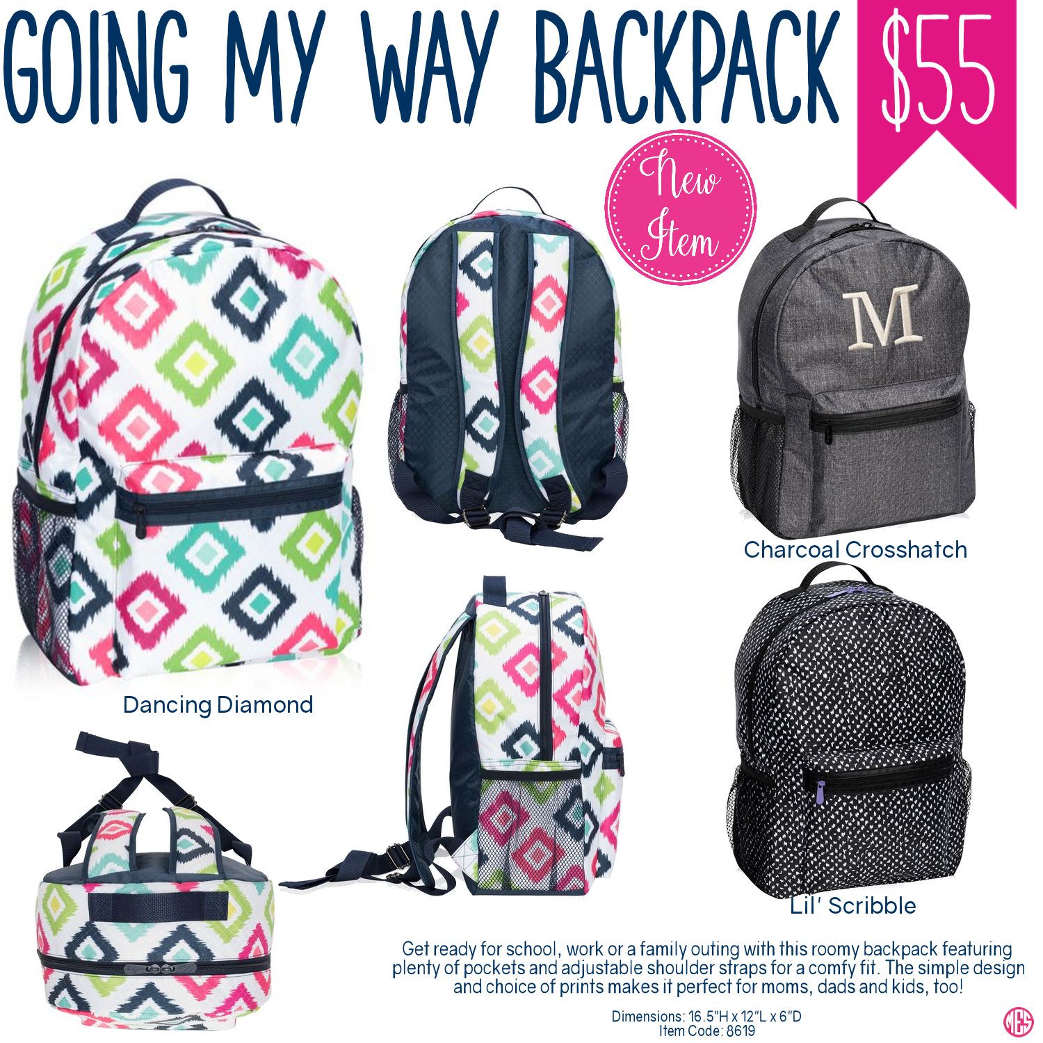 87f25caf6684 Thirty-One Going My Way Backpack - Spring Summer 2017