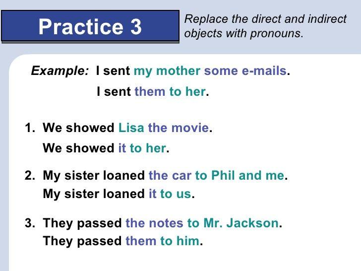 Resultado De Imagen Para Object Pronouns Aprender Ingls Pinterest