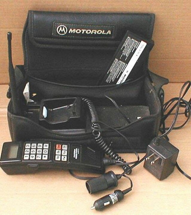 1980s Bag phone .. Car phone .. Mobile phone.  What a dinosaur. - This was our first cell phone! LoL!!