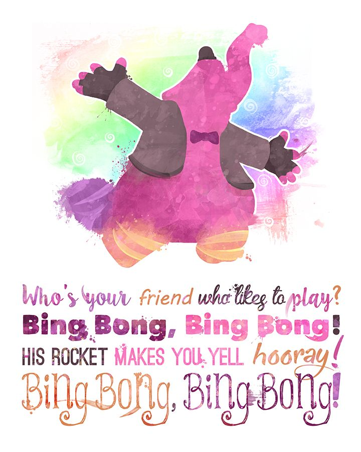 Bing Bong 8x10 Inside Out Printable Poster Digital