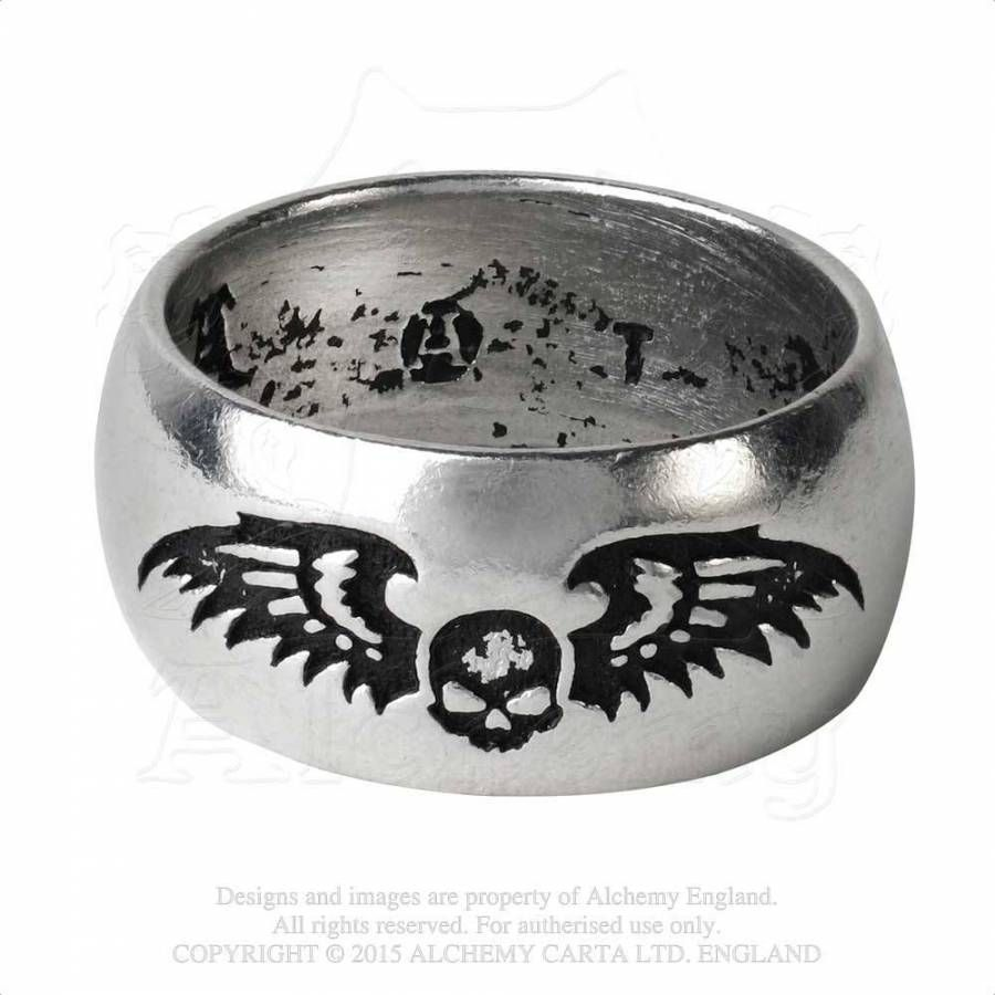 rebelsmarket ring products enameled pewter highly roseus polished pentagram rings black wisdom