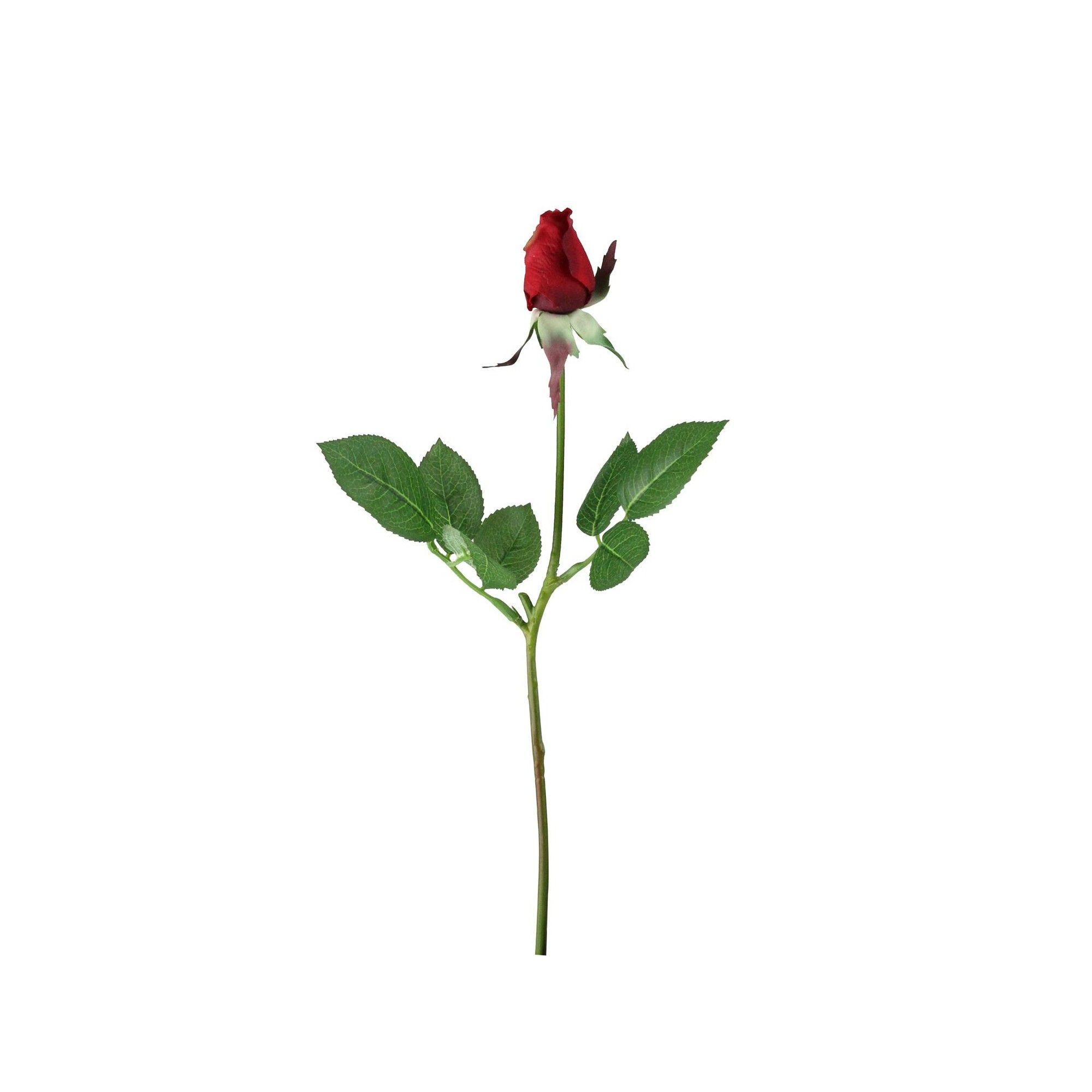 Northlight 23 Artificial Long Single Stem Deep Red Colored Budding Rose Pick Beautiful Roses Red Roses Rose