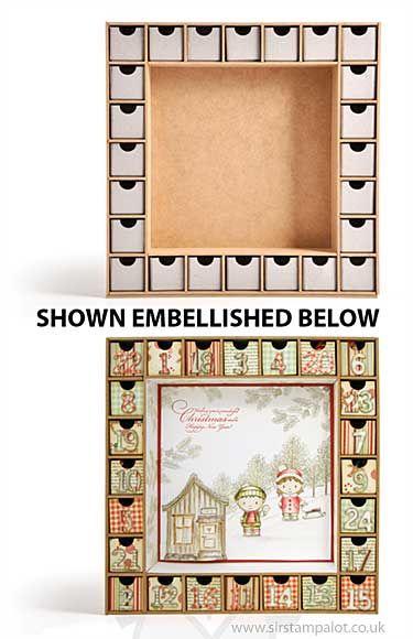Kaiser Craft Christmas Advent Calendar - shown embellished below