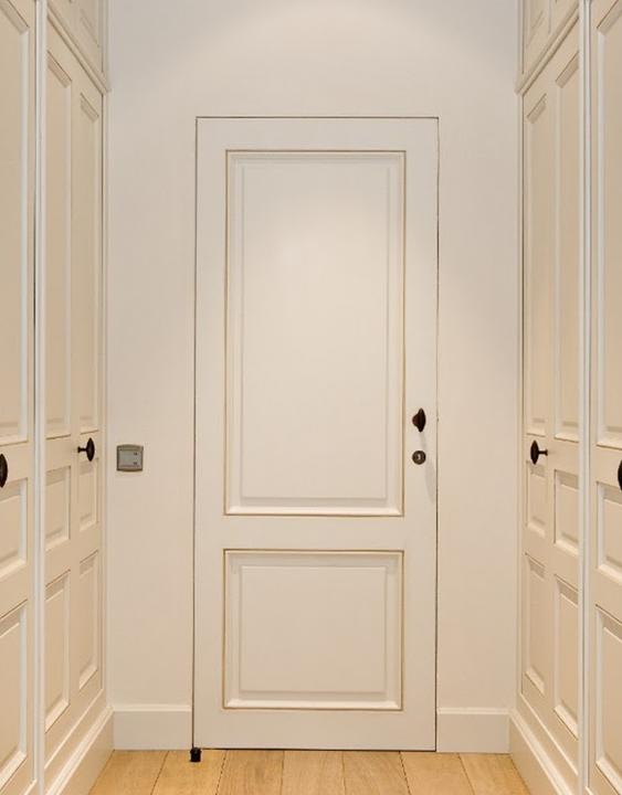 Steel door jamb covered in plaster...no trim | Doors | Pinterest ...