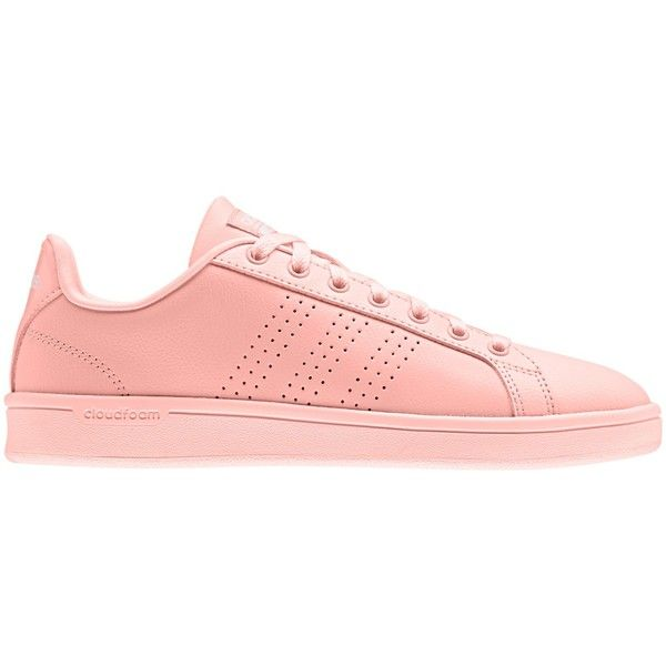 adidas neo cloudfoam advantage womens trainers coral
