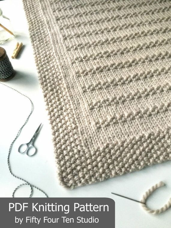 The Stones In The Road Blanket Knitting Pattern Is Easy To Knit With