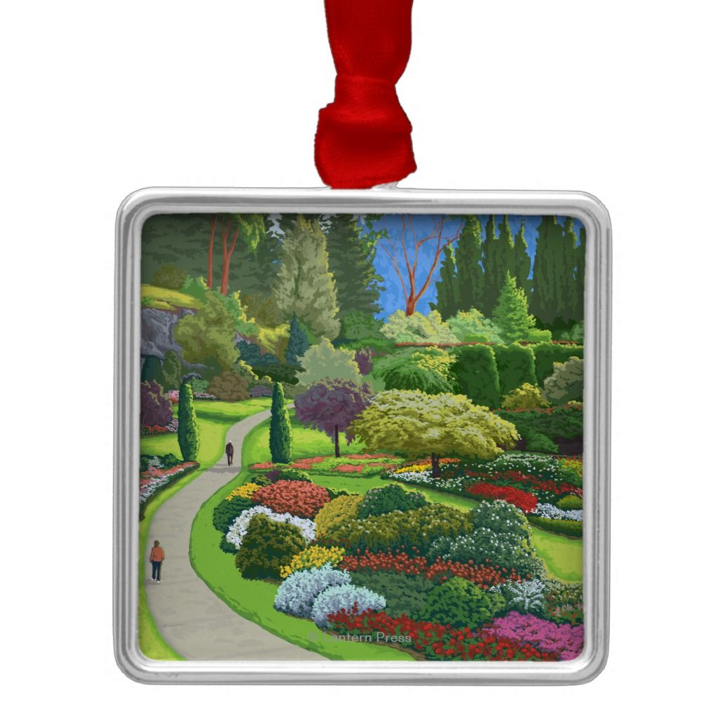 Butchart Gardens - Brentwood Bay Metal Ornament | Zazzle.com #butchartgardens