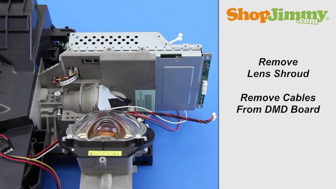 Mitsubishi Dlp Tv Repair Removing Dmd Chip From Light Engine How To Fix Black White Dots Repair Dmd Mitsubishi