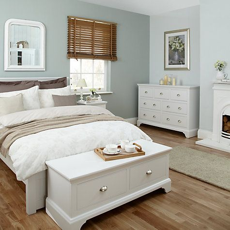 John Lewis Helston Bedstead Double Online At Johnlewis Bed Furniture White