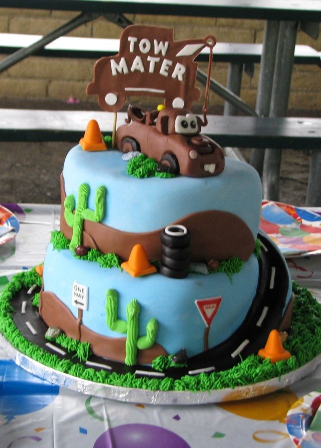 Fantastic Tow Mater Cake With Images Mater Cake Tow Mater Cake Funny Birthday Cards Online Alyptdamsfinfo