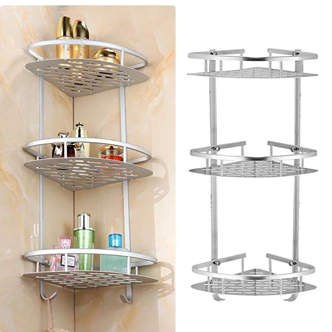 Amazon Com Yosoo 3 Tier Shampoo Basket Shower Shelf Bathroom Corner Shower Rack Storage Holder Hang Shower Shelves Bathroom Remodel Small Shower Corner Shower