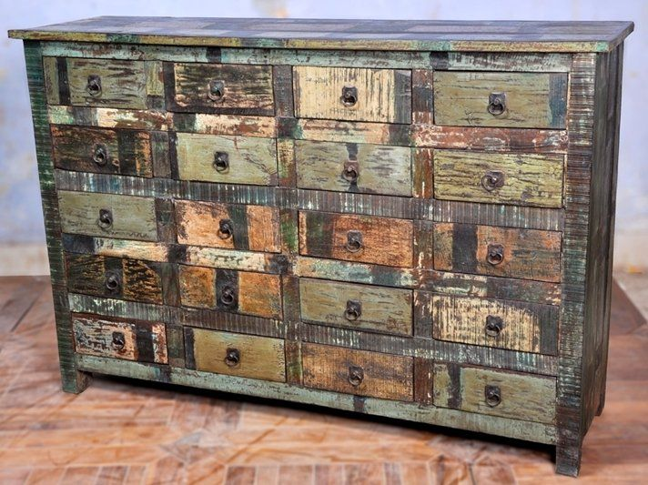 Upcycled Dressers Painted Wallpapered