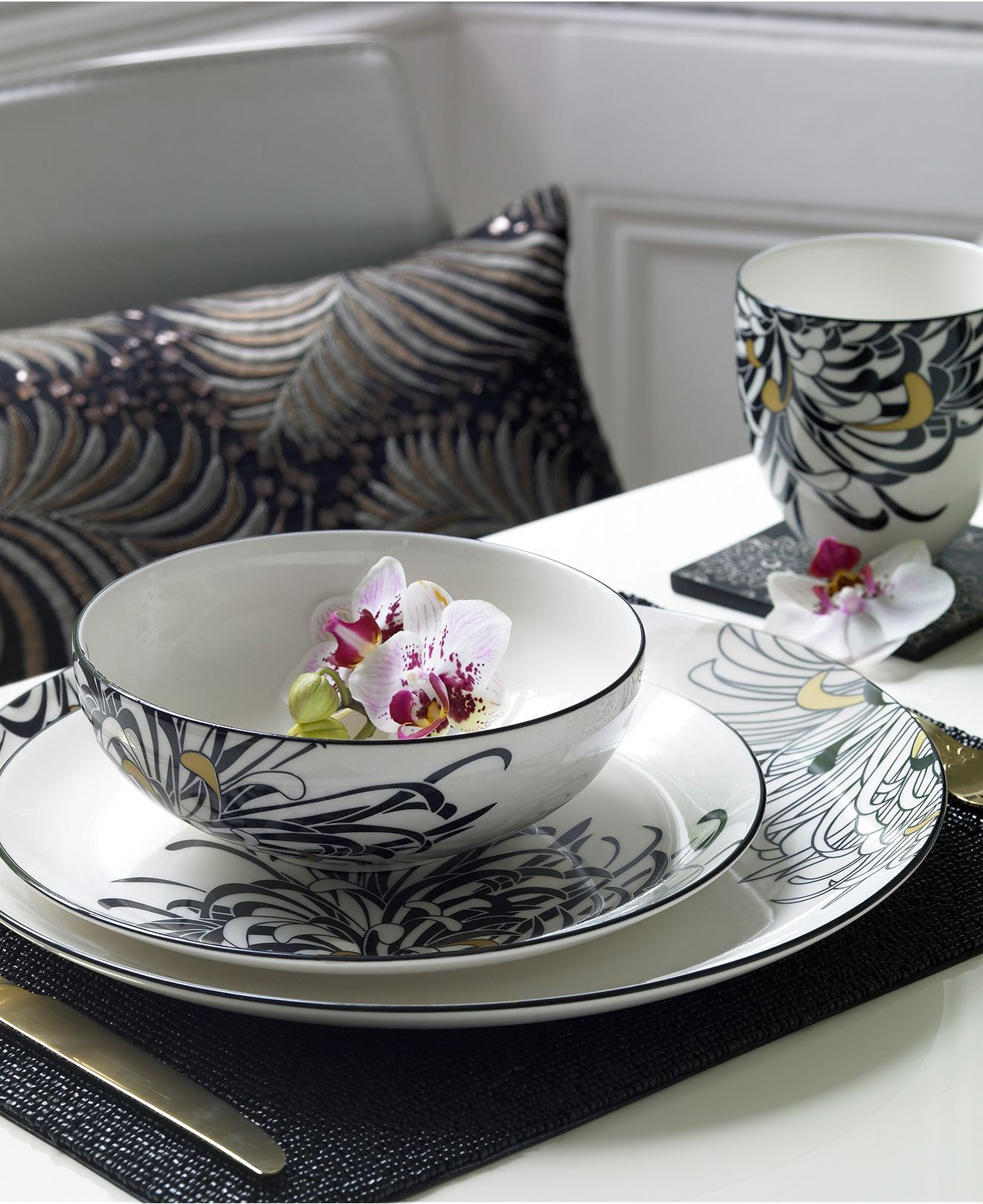 Monsoon Dinnerware Collection by Denby Chrysanthemum Collection - Fine China - Dining u0026 Entertaining - Macyu0027s & Monsoon Dinnerware Collection by Denby Chrysanthemum Collection ...