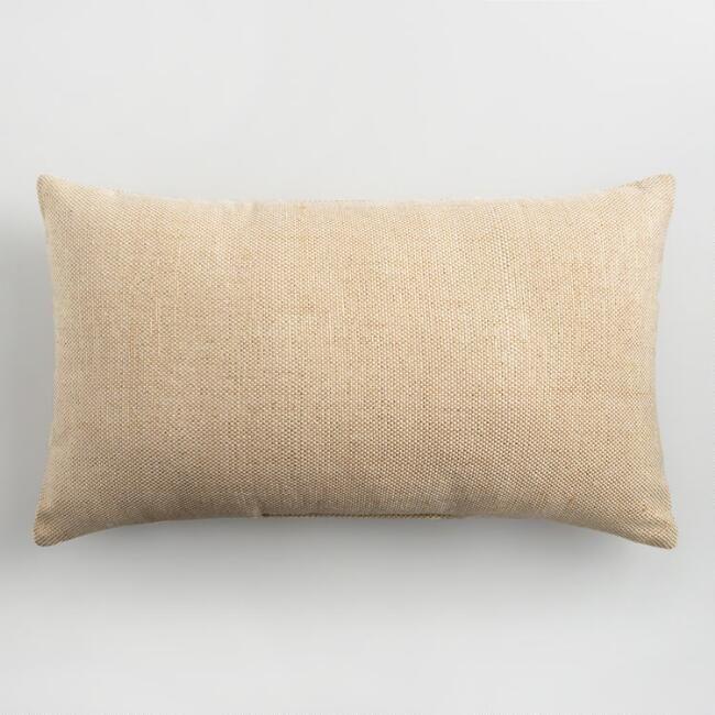 Natural And Gold Indoor Outdoor Lumbar Pillow V1 Porch