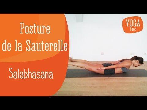 yoga  posture de la sauterelle  salabhasana  posture de