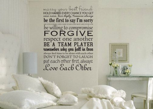 Rules For Couples Bedroom Vinyl Wall Decal Couple Bedroom Wall Decals Bedroom Design