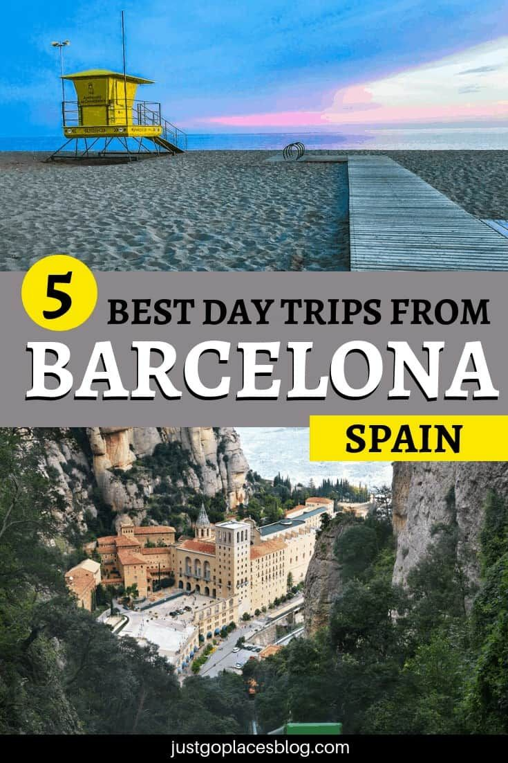 When you visit Barcelona, it's tempting to stay in the city all the time: it's such a cool city! But its surrounding area is also pretty special: check out the 5 best day trips from Barcelona, which inlcude famous places like Montserrat and less famous ones like Castelfidells. These Barcelona day trips are absolutely kid-friendly and a lot of fun! #barcelona #barcelona #costabrava #montserrat #spain #daytrips #casteldefells