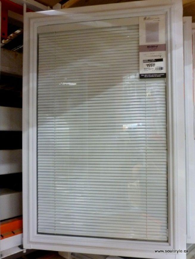 Blind in between window panes sliding door bottom up for Marvin window shades cost