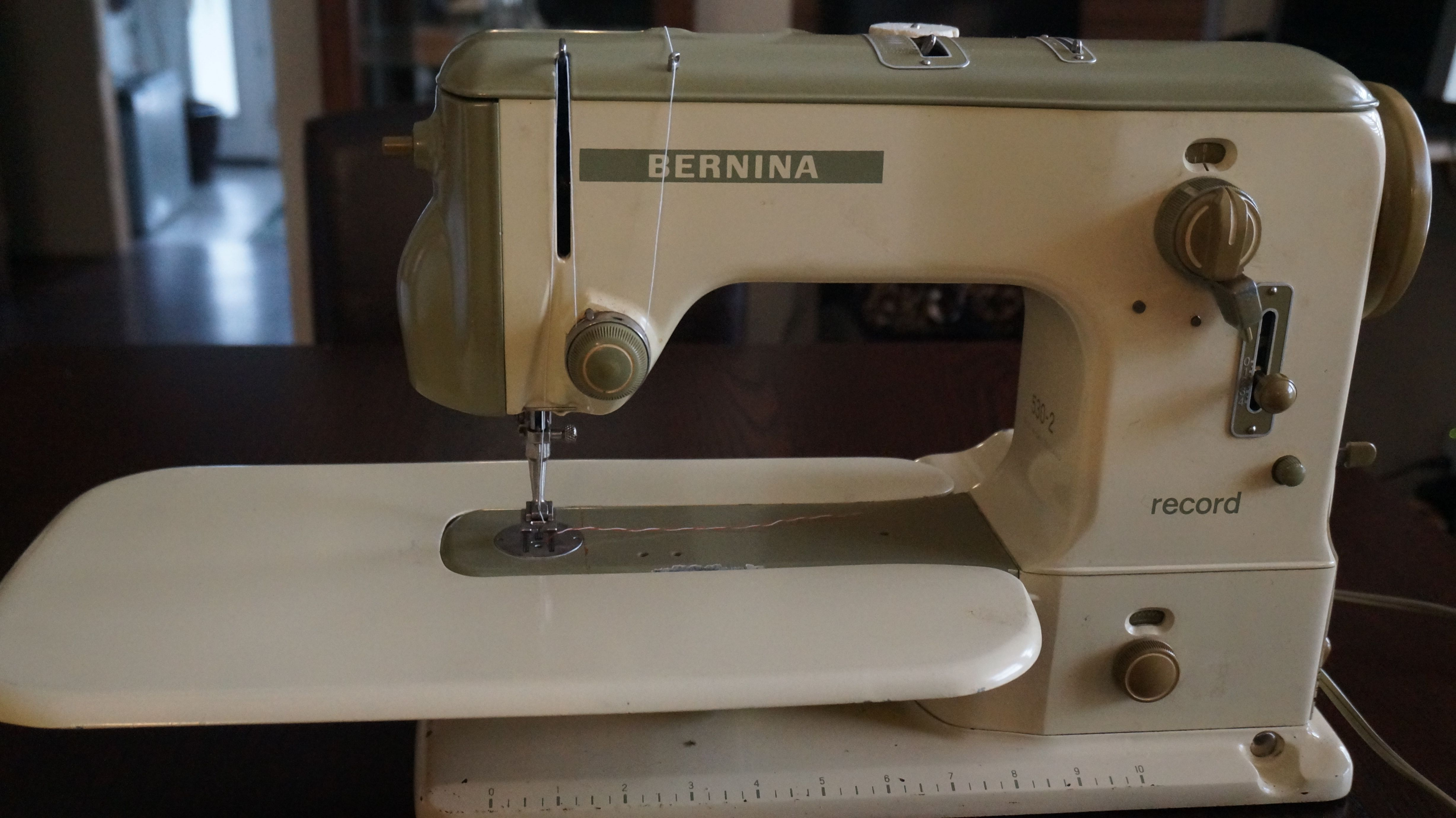 Bernina Record 530-2 Made in 1963 So The salesman was a 12