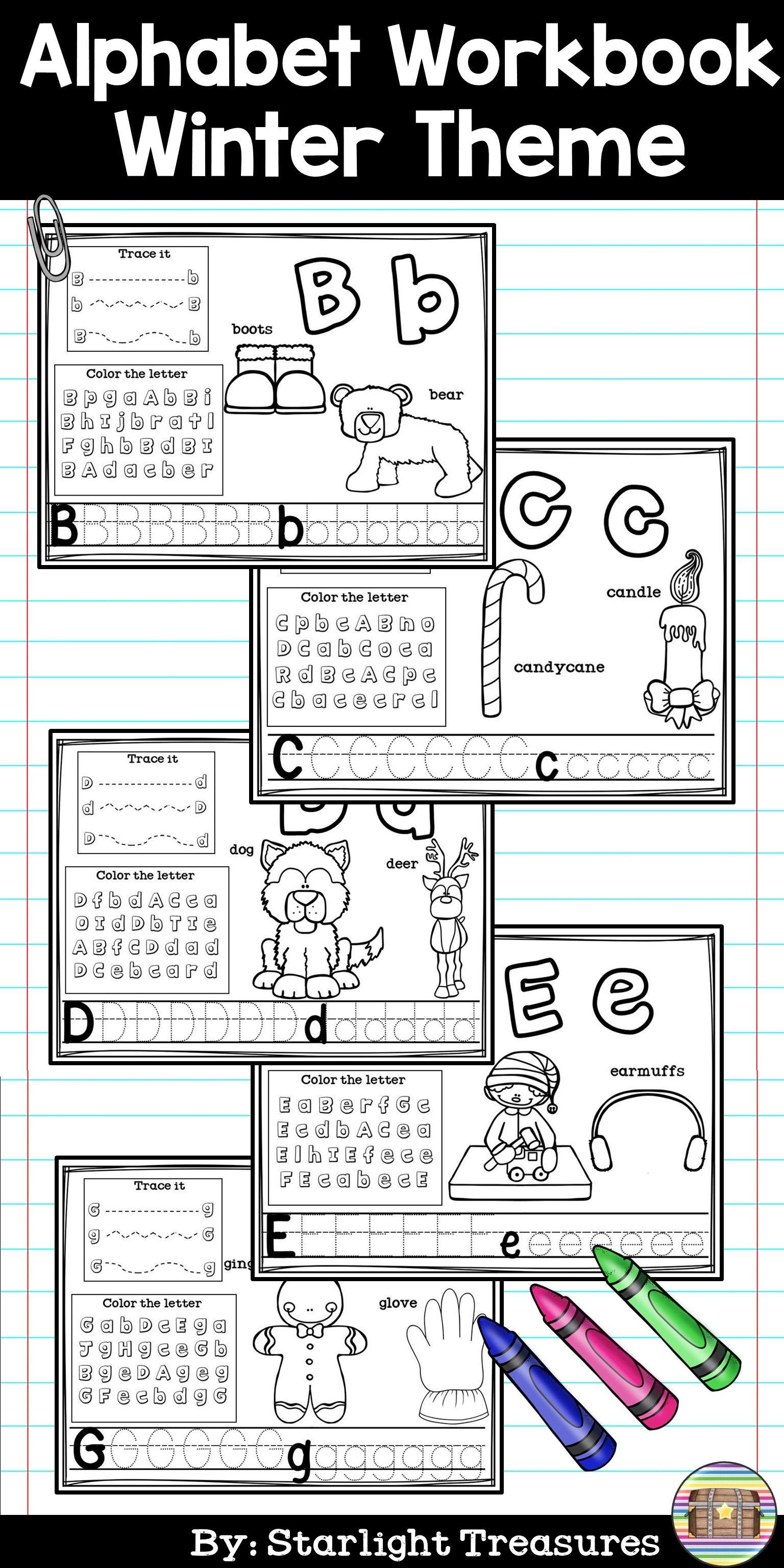 Alphabet Workbook Worksheets A Z Winter Theme
