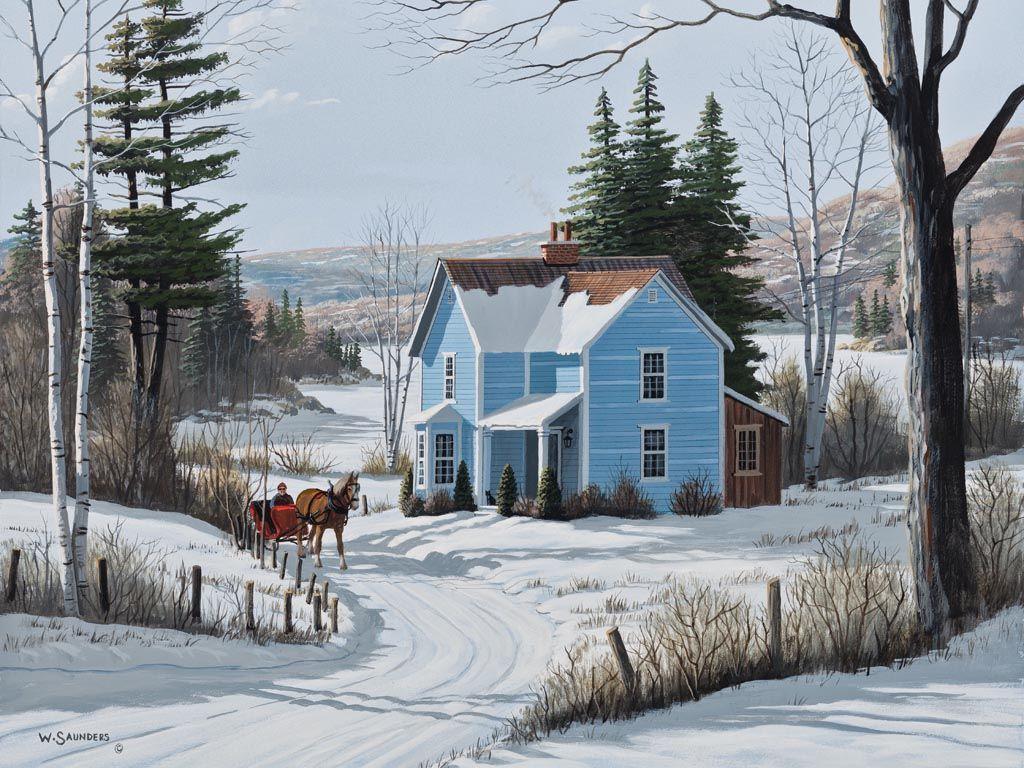 winter farmhouse 1001664.jpg (1024×768) Laptop wallpaper