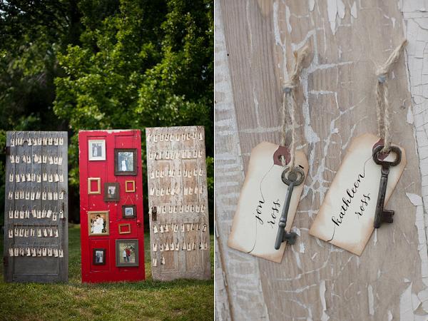 Name cards on old doors - love it! | Wedding Decor | Pinterest ...