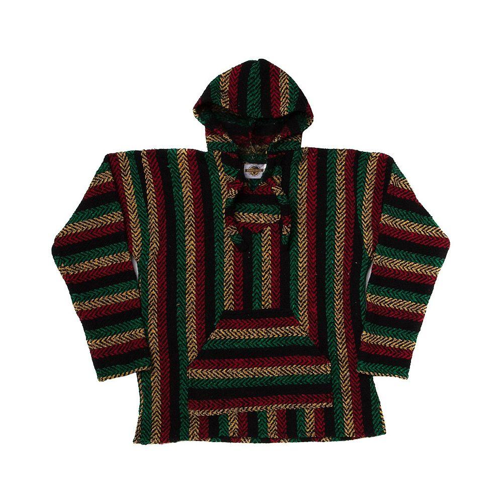 Mens Baja Rasta Poncho   Style   Men sweater, Mens poncho