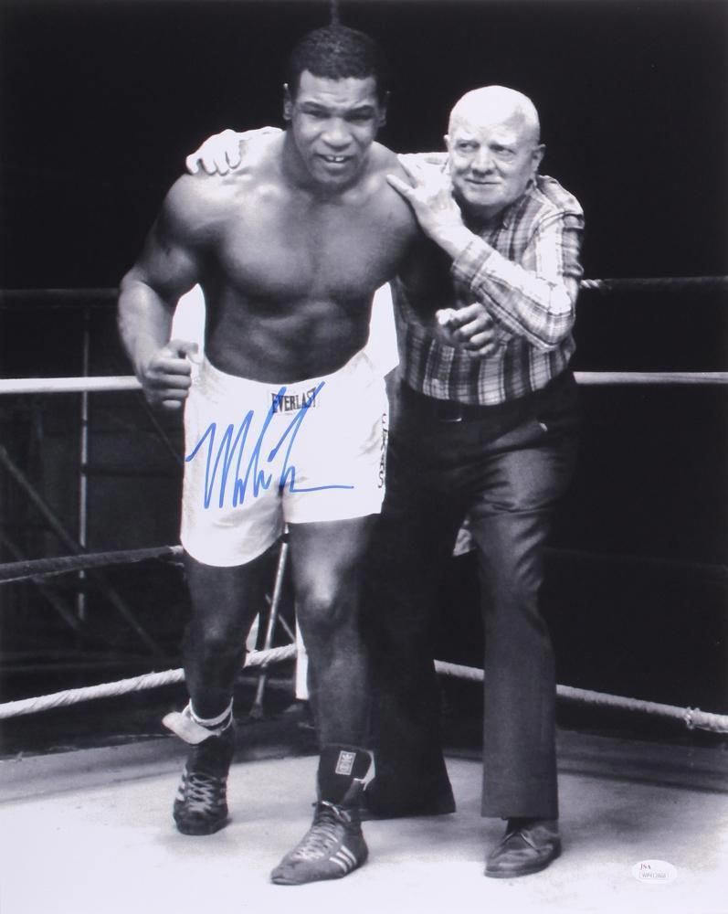 Mike Tyson Signed 16x20 Photo with Cus D'Amato (JSA COA