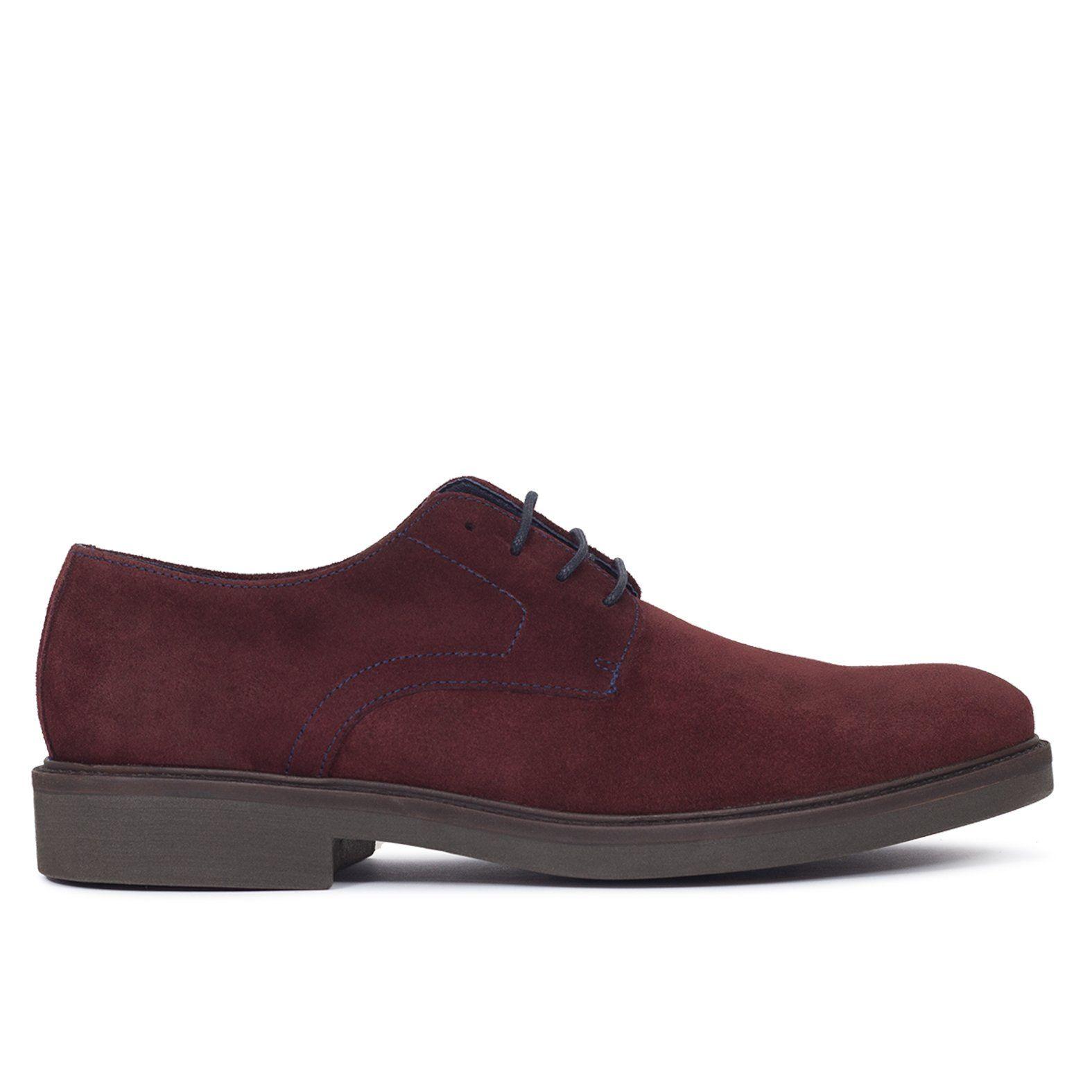 fa41bb33ca2b9 Zapato de hombre con ordones de piel BURDEOS - Zapatos online miMaO – miMaO  ShopOnline