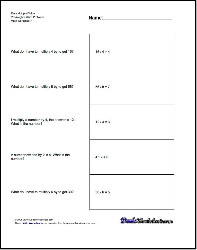 Free Math Worksheets For Pre Algebra Word Problems Problems Word Problem Worksheets Word Problems Inequality Word Problems