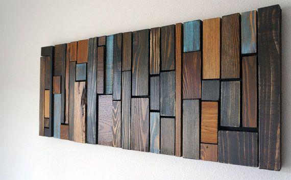 Arte de pared de madera WOOD WALL ART Pinterest Wood art - pared de madera