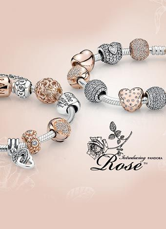 Bracelet or et rose