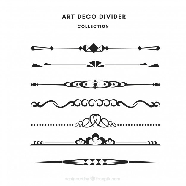 Download Dividers Collection In Art Deco Style For Free Art Deco Fashion Art Deco Deco