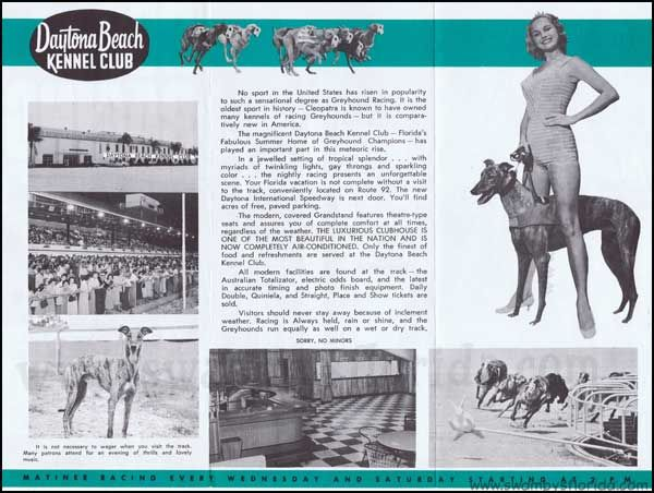 Swampy S Tuesday Ads Daytona Beach Kennel Club 1960 For The Other Side Of