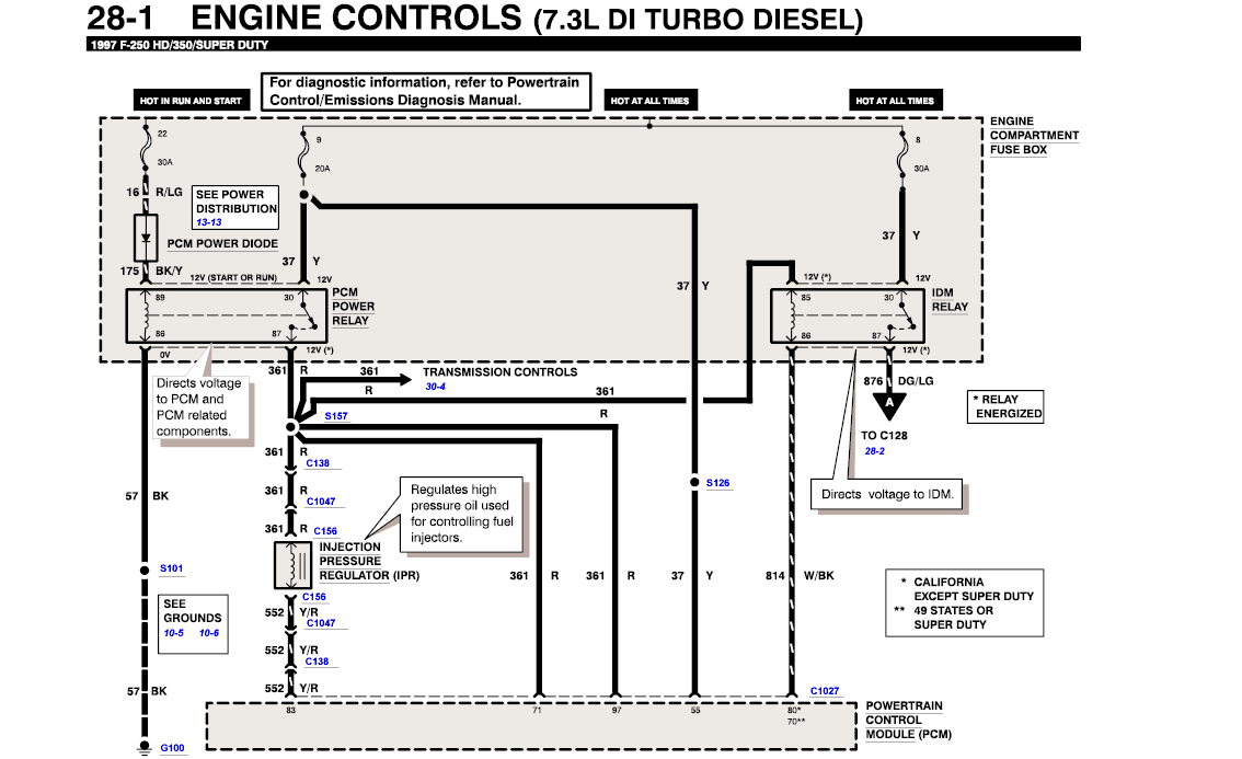 Need Wiring Diagram From Fuel Injector Banks To Battery For Ford