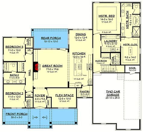 3 Bed Acadian Influenced House Plan with Bonus Room