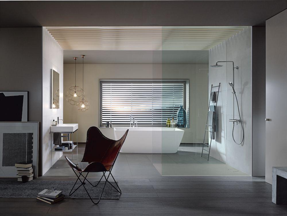 Stoere badkamer! Douchen op beton. #duravit #stonetto #douchebak ...