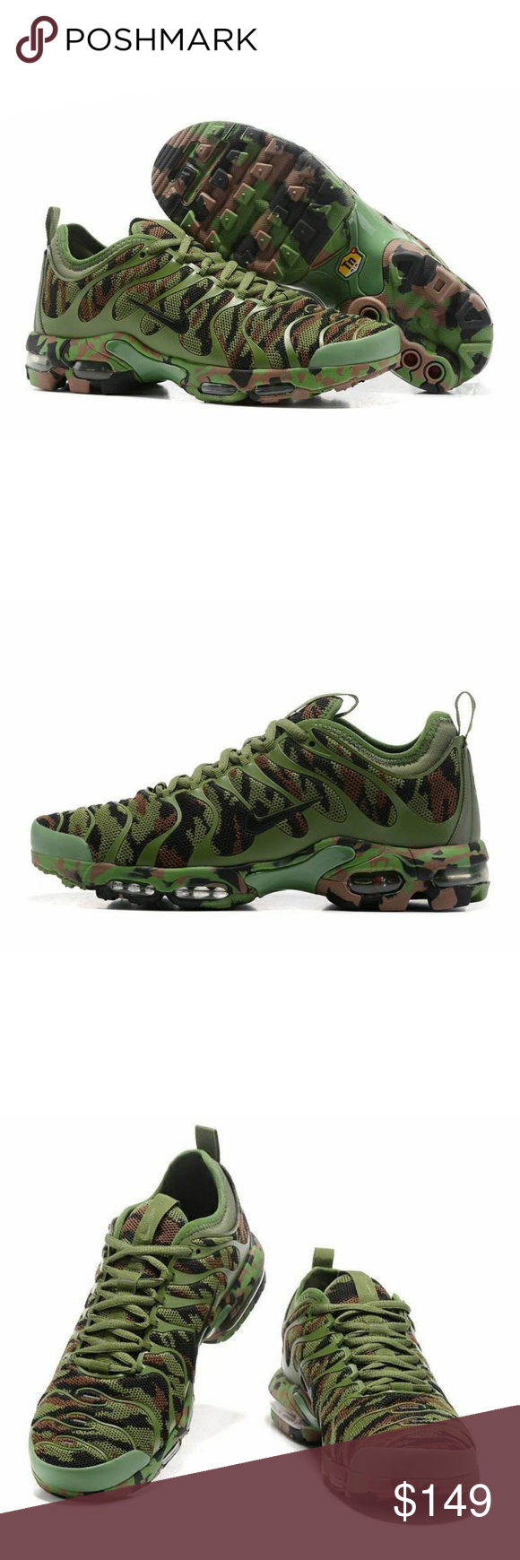 79f4b572956 Nike Air Max Plus TN Ultra Newest Nike Air Max Plus TN Ultra Army Green  Camouflage 898015 022 Men s women s Running Shoes Sneakers Nike Shoes  Sneakers