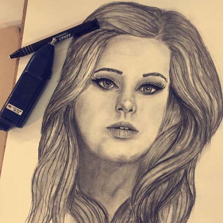 Adele drawing   Instagram : arwatab
