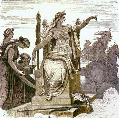 Image of Frigg Odin's wife