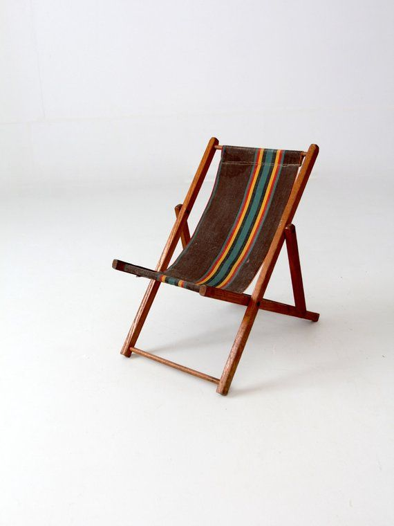 Cool Vintage Childrens Deck Chair Folding Beach Chair Kids Inzonedesignstudio Interior Chair Design Inzonedesignstudiocom