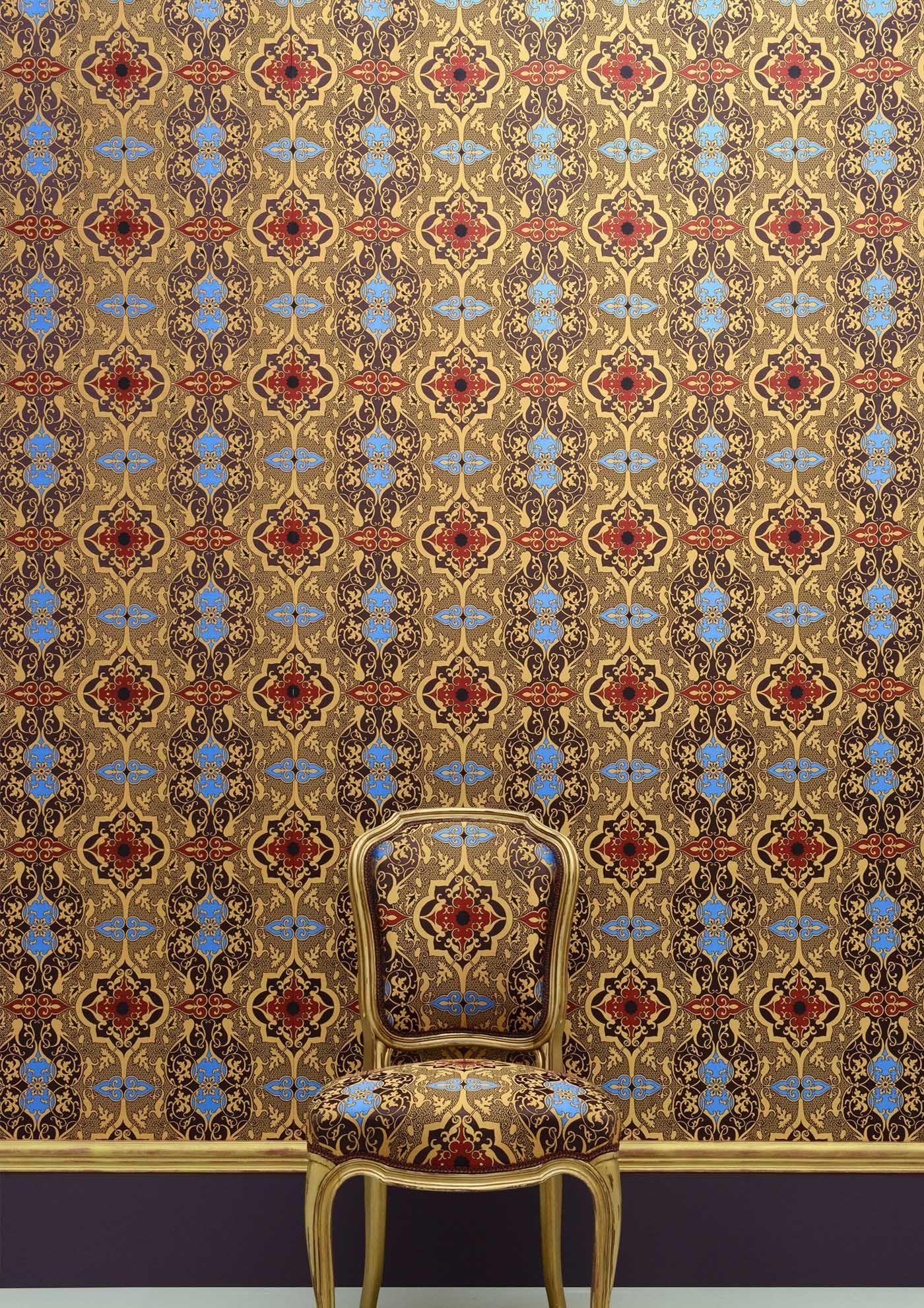 Tissu Tolede Chaise Chair Louis Xv Meubles Hummel Chatel Wallpaper Fabric