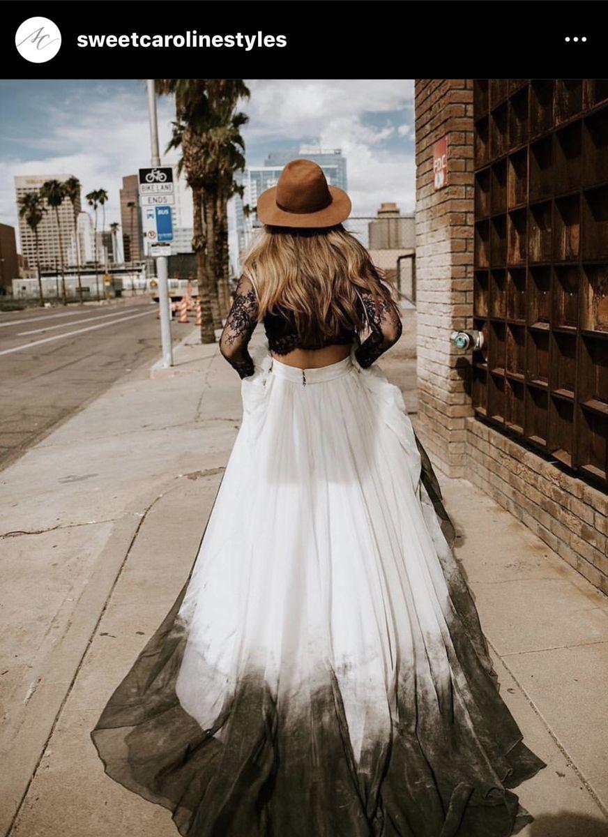 Pin By Ashley Reimers On 10 31 21 All Hallows Eve Wedding Celebration Dip Dye Wedding Dress Gothic Wedding Dress Ombre Wedding Dress [ 1200 x 872 Pixel ]