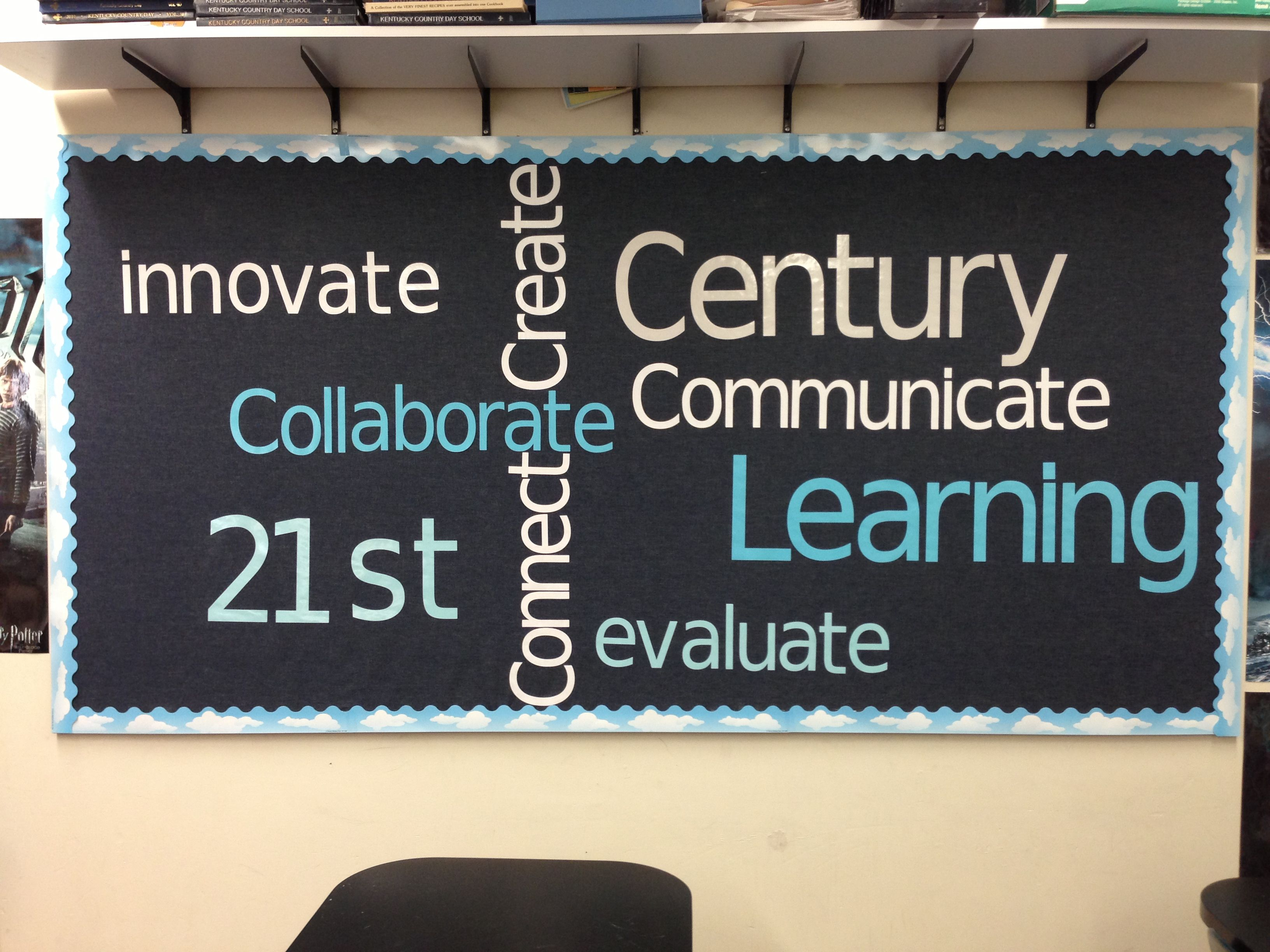 21st Century Learning Wordle Bulletin Board Teacher